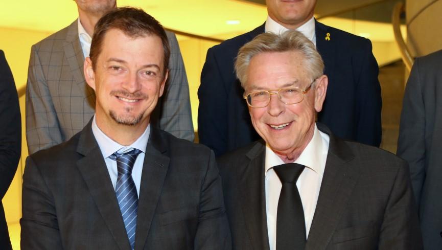 Andrew Parsons, Präsident des IPC und Holger Müller MdL, Vorsitzender des Sportausschusses im Landtag NRW